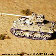 GHQ N123 Egyptian Sherman with AMX 75mm Turret